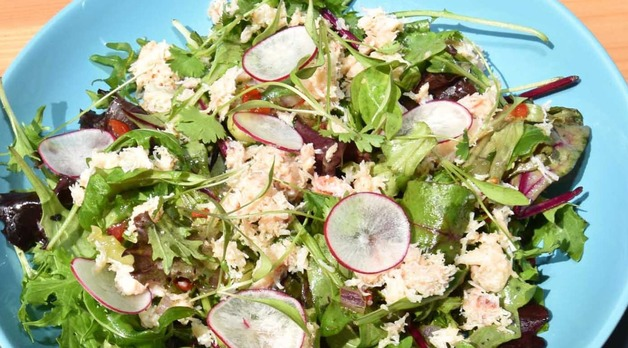 Crab Salad - freshly made at Sutton Wharf Cafe Bar